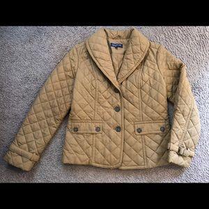 Jones NY signature Cream quilted puffer Jacket
